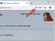 PWA install-knop in Chrome