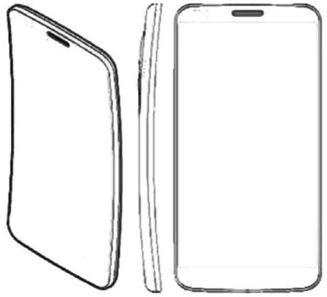 Tekening van LG G Flex (bron: Cnet)