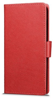 qMust Vodafone Smart Turbo 7 Wallet Case - TPU frame - Red