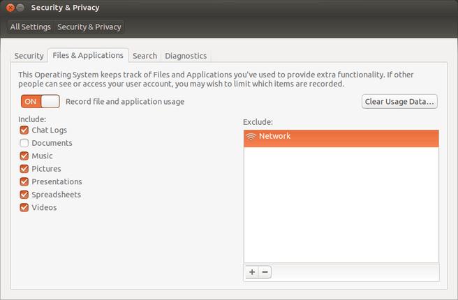 Ubuntu 13.10: meer insrelmogelijkheden voor Zeitgeist