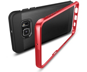 Spigen Neo Hybrid Carbon Samsung Galaxy S6 edge Plus Case  Rood