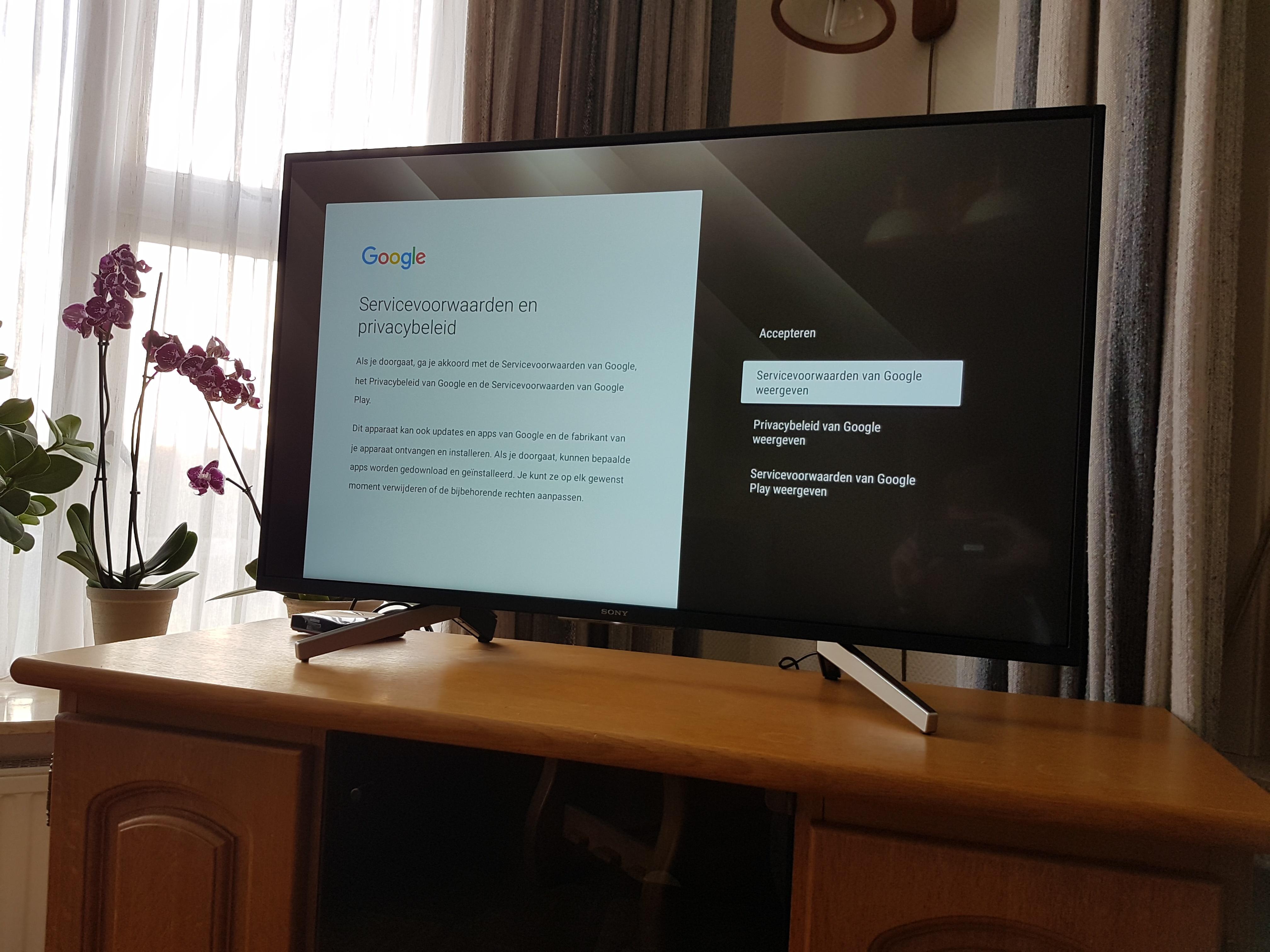Instellen tv