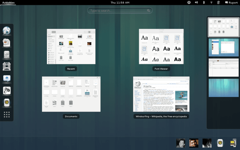 Gnome 3.6 screenshot