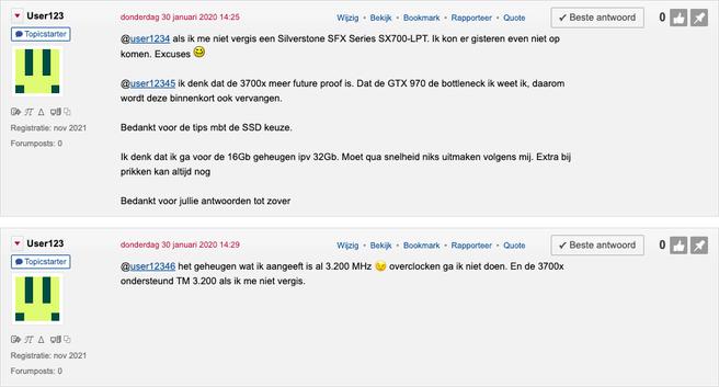 Losse forumposts