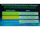 Intel Labs: aankondiging Security Institute