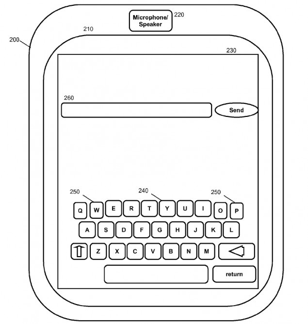 IBM virtual keyboard patent