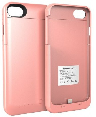 Maxnon Apple iPhone 7 Plus Extended Battery Case - 4000mAh - Rose Gold