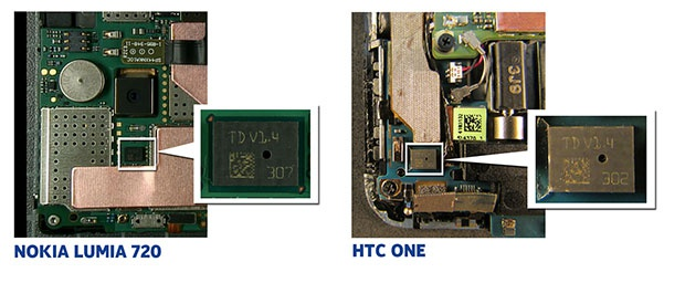 HTC vs. Nokia -- microfoon