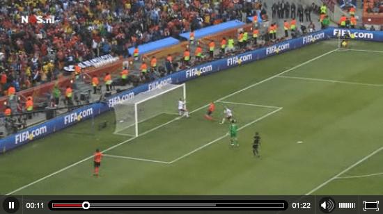 WK voetbal - doelpunt Kuyt