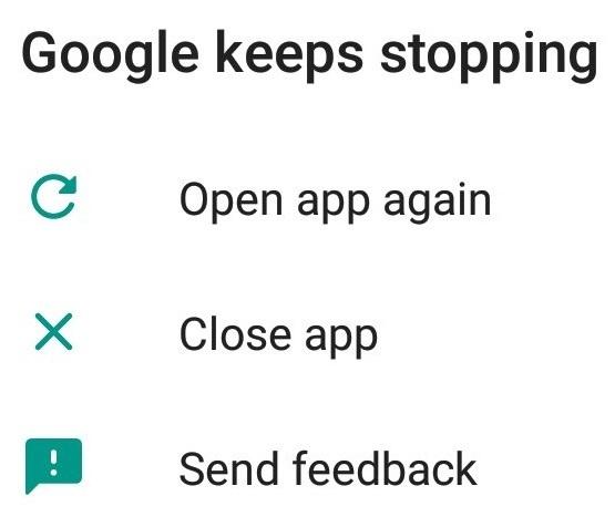 Google stopmelding