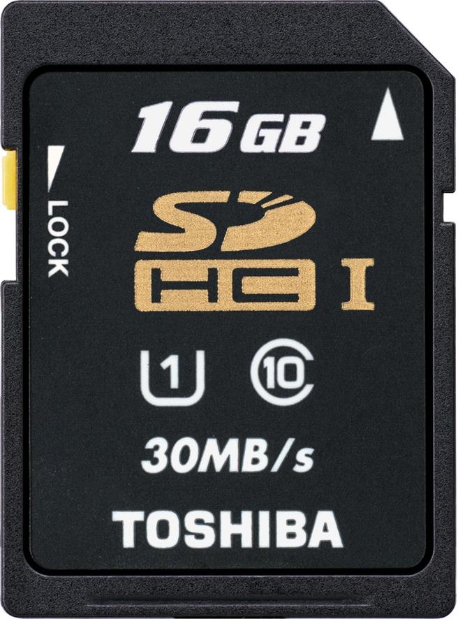 Toshiba SDHC UHS-I, 16GB