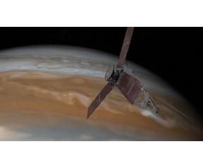 Juno in atmosfeer Jupiter