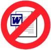 'Verboden voor Word-documenten'