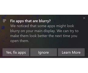 Windows 10 Spring Creators Update Scaling