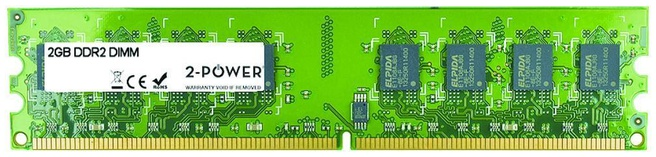 2-Power 2GB DDR2 800MHz DIMM Memory - replaces V764002GBD