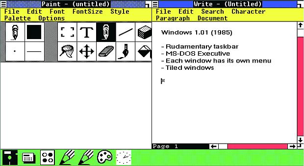 Windows 1.0 Paint
