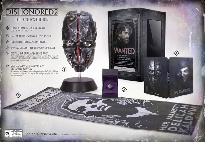 Dishonored 2 Collectors Edition, PlayStation 4