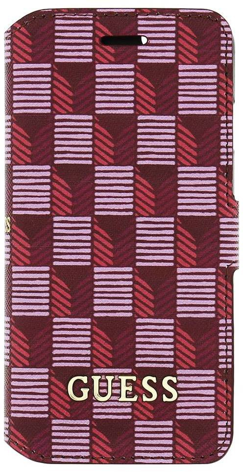 Guess Originele Jet Set Folio Bookcase hoesje - Roze voor de iPhone 6 / 6S Roze