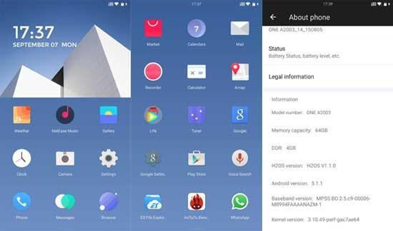 HydrogenOS op OnePlus 2