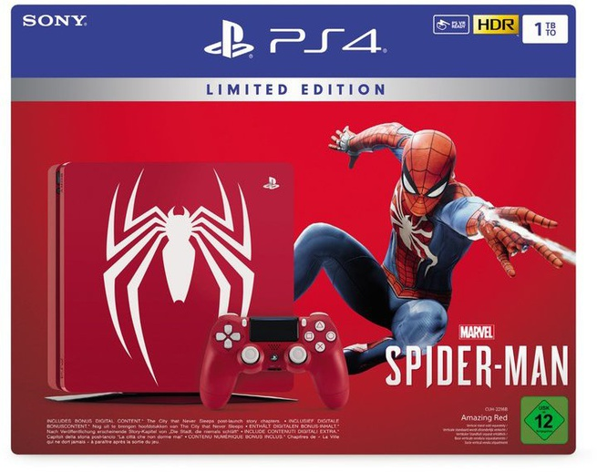 Sony PlayStation 4 1TB + Spider-Man Zwart