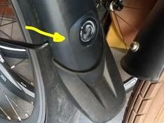 Spatbord clip op fiets