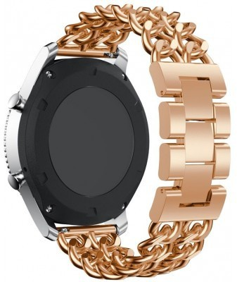 qMust Samsung Gear S3 Armband Double Chain Style - Rose Goud