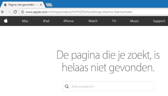 Apple verwijdert Withings
