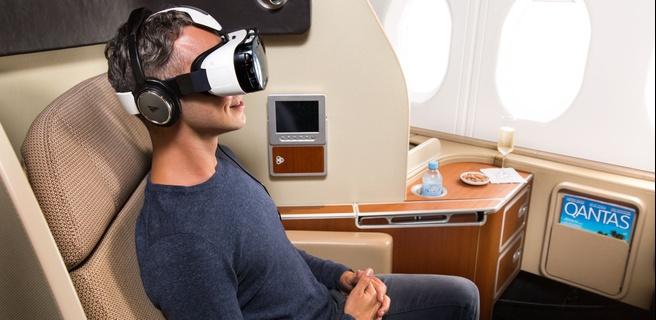 Gear VR bij Qantas