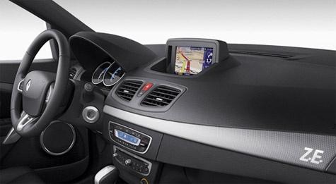 TomTom Renault Fluence Z.E. in-dash navigatiesysteem range anxiety