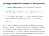 WhatsApp privacyvoorwaarden push