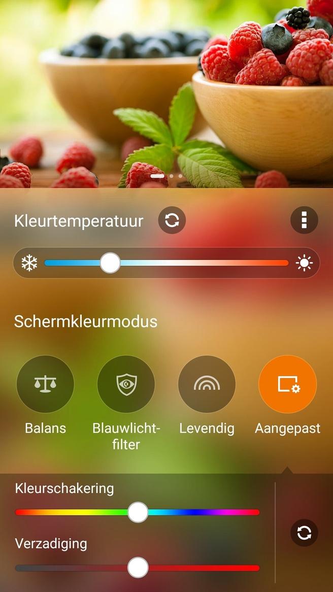 Splendid-app op Asus Zenfone 3