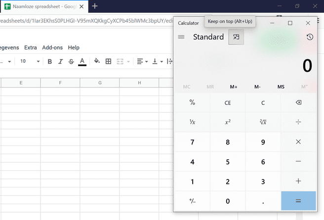 Windows 10 May 2020 Update Calculator