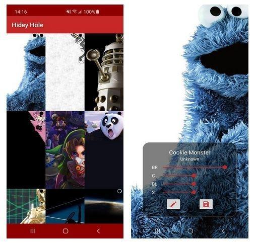 Samsung Galaxy S10-app Hidey Hole van Chainfire