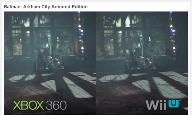 Xbox 360 vs Wii U
