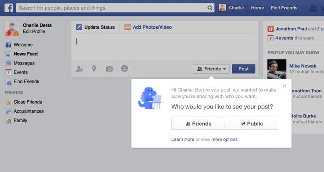 Facebook delen berichten