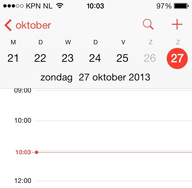 Wintertijdproblemen iOS 7