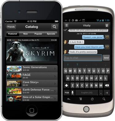 Steam-app voor iOS en Android