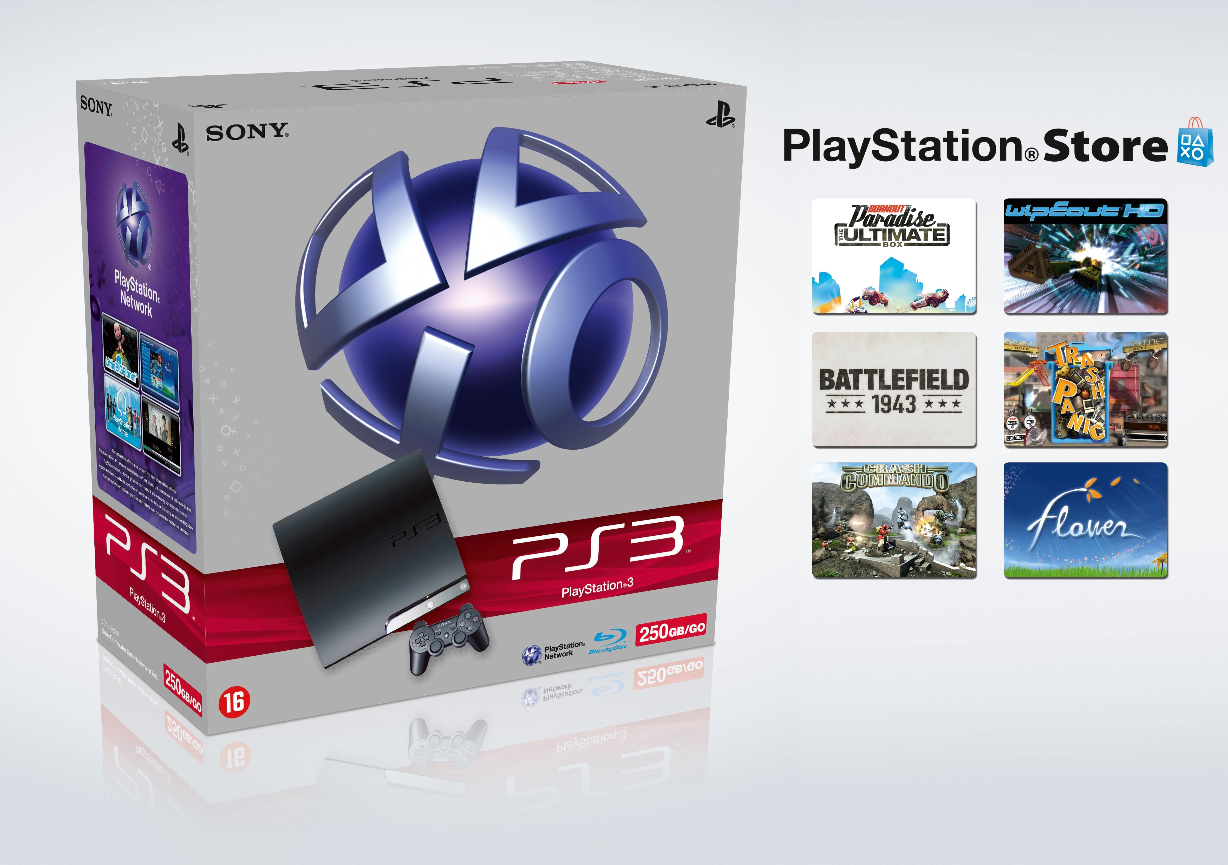 Sony PlayStation 3 Slim 250GB + PSN Voucher
