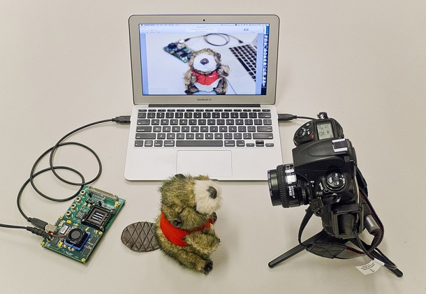 MIT chip testopstelling