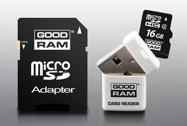 Goodram 3 in 1 microSDHC class 10 UHS 1 16GB