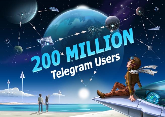Telegram 200 miljoen gebruikers