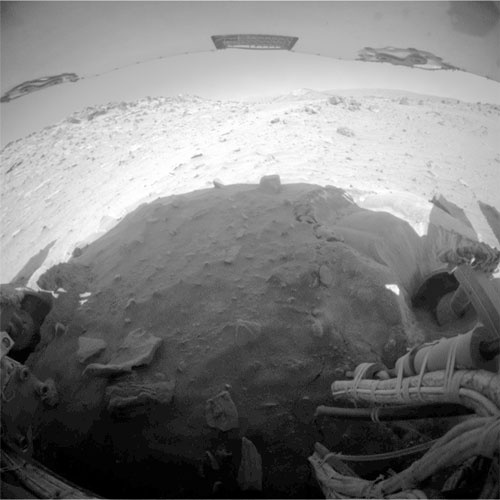 Zandbunker Troy bij Spirit rover