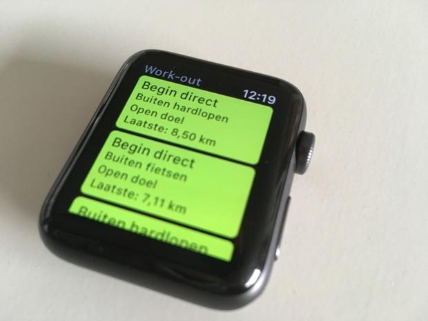 De Work-Out app voldoet prima voor de basis, maar erg uitgebreid is het nog niet.