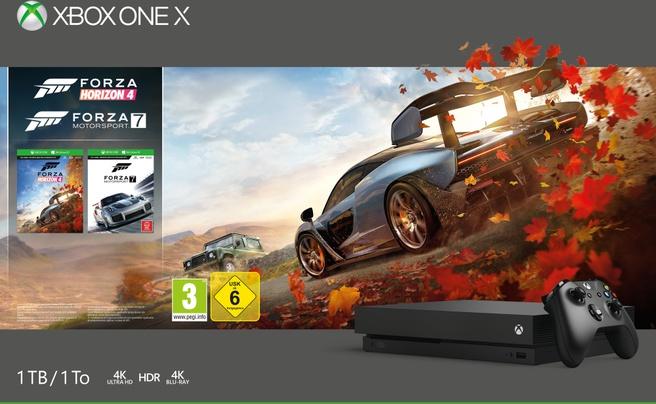 Microsoft Xbox One X + Forza Horizon 4 Zwart