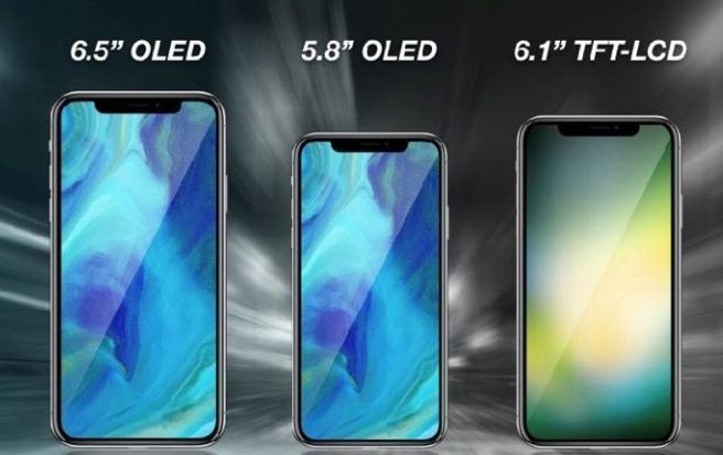Vermoedelijke iPhones 2018