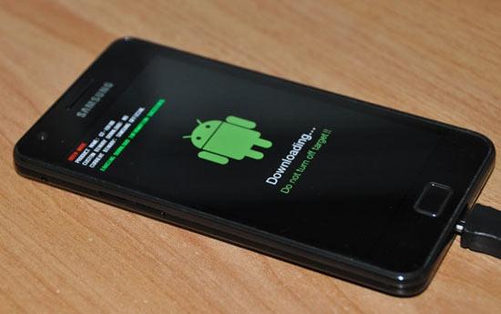 Rom flashen op een Galaxy S II