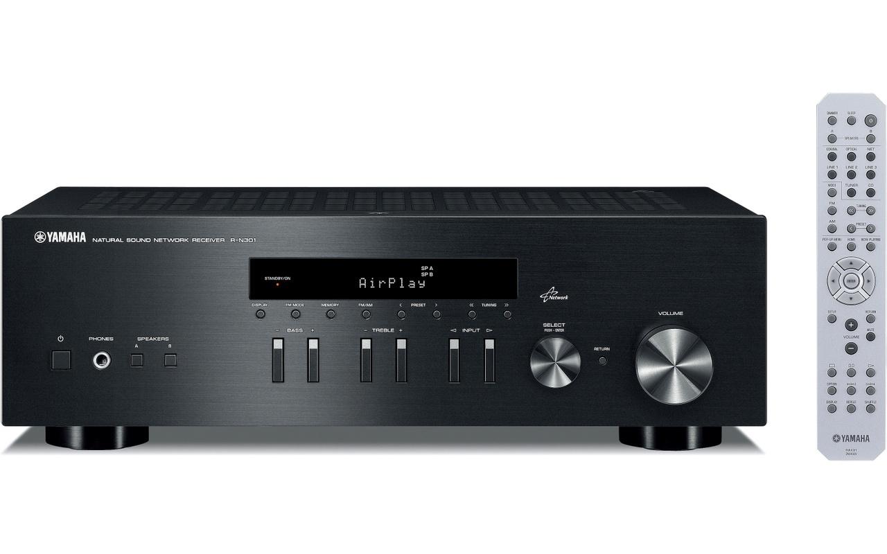 yamaha r n301 network stereo receiver zwart. Black Bedroom Furniture Sets. Home Design Ideas