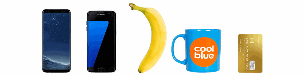 Coolblue S8+ banana for scale