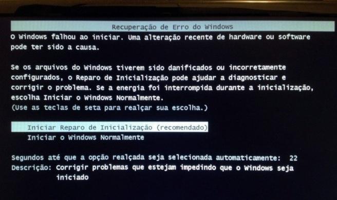Braziliaanse error na Windows-update