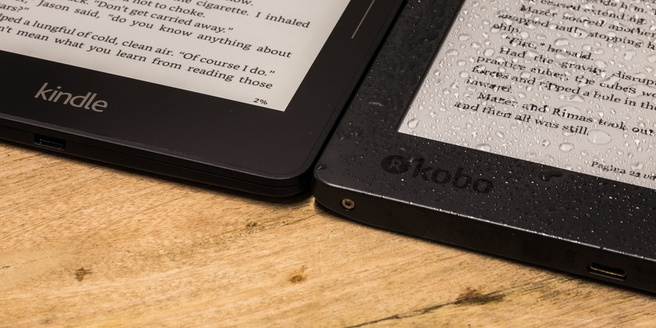 Amazon Kindle Voyage en Kobo Aura H2O